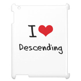 I Love Descending iPad Cover