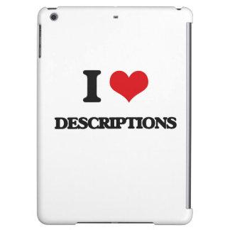 I love Descriptions iPad Air Cover