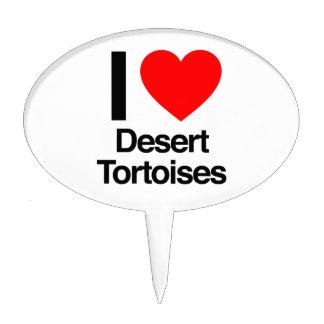 i love desert tortoises cake picks