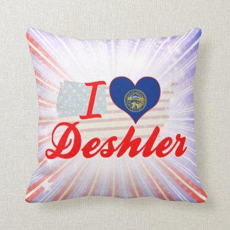 I Love Deshler, Nebraska Pillows