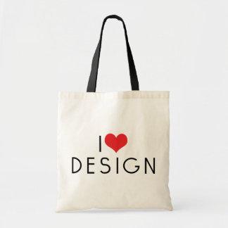 I Love Design Canvas Bags