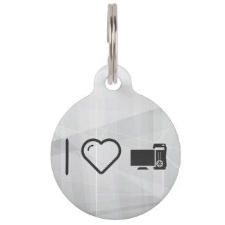I Love Desktop Monitors Pet ID Tag