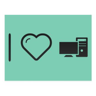 I Love Desktop Packages Postcard