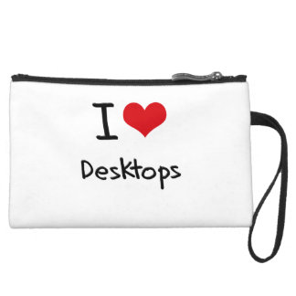 I Love Desktops Wristlet Clutch