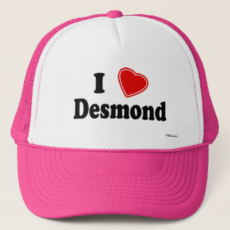 I Love Desmond Trucker Hat