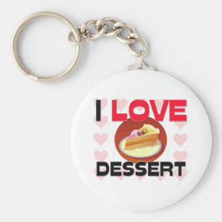 I Love Dessert Key Chain