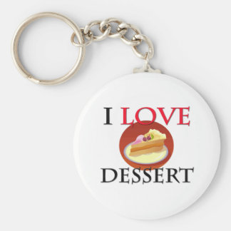 I Love Dessert Key Chains
