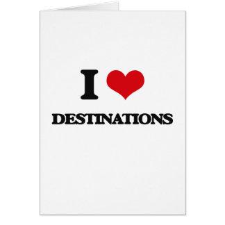 I love Destinations Greeting Card