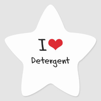 I Love Detergent Star Sticker