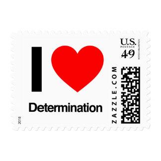 i love determination postage