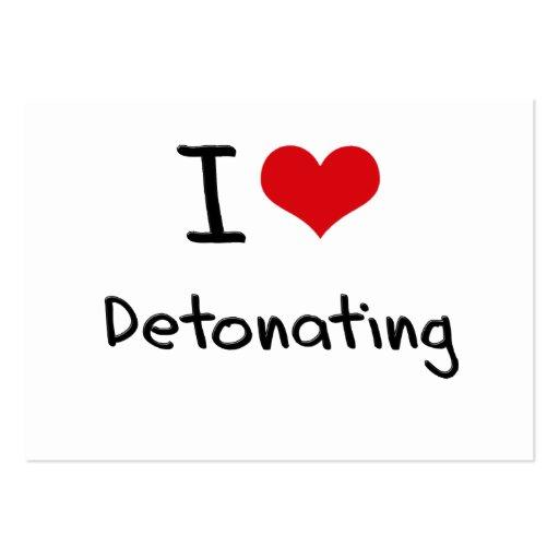 I Love Detonating Business Card Template