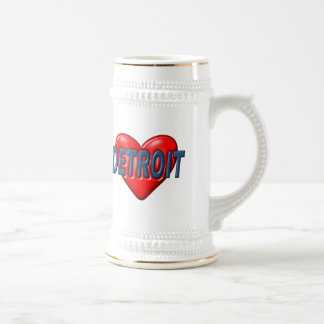 I Love Detroit Beer Stein