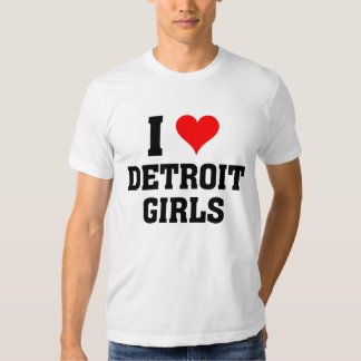 I love Detroit Girls T-shirt