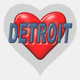 I Love Detroit Heart Sticker