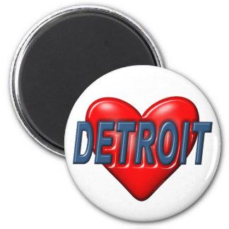 I Love Detroit Refrigerator Magnets