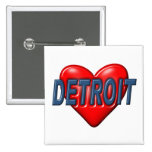 I Love Detroit Pins