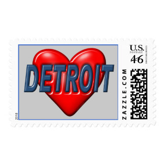 I Love Detroit Postage
