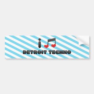 I Love Detroit Techno Bumper Sticker