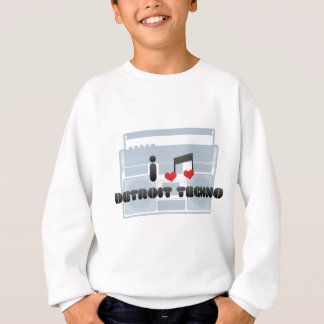 I Love Detroit Techno Sweatshirt