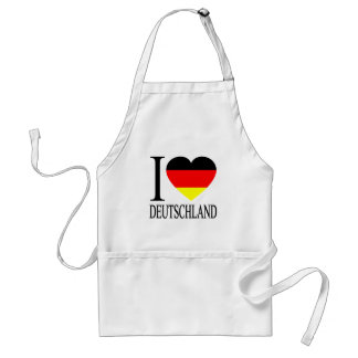 I Love Deutschland Germany German Flag Heart Adult Apron