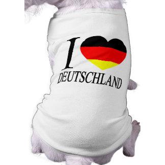 I Love Deutschland Germany German Flag Heart Dog Tee