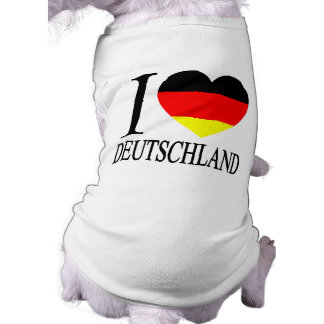 I Love Deutschland Germany German Flag Heart T-Shirt