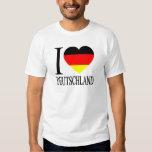 I Love Deutschland Germany German Flag Heart Tee Shirt