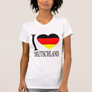 I Love Deutschland Germany German Flag Heart Tee Shirts
