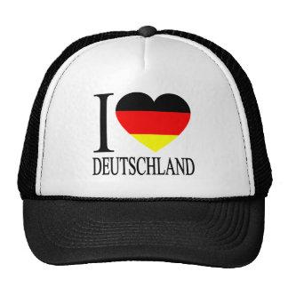 I Love Deutschland Germany German Flag Heart Trucker Hat