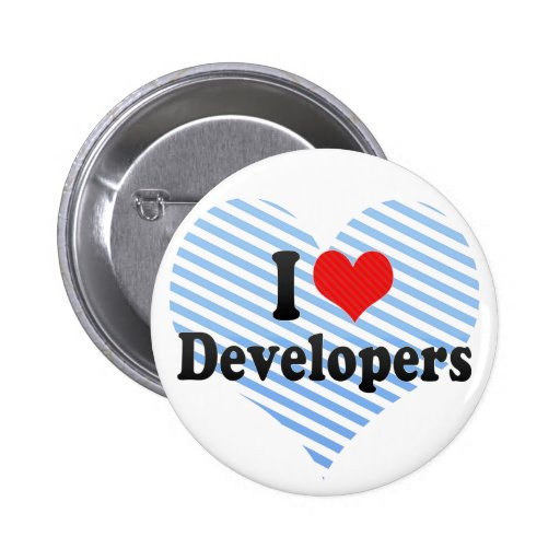 I Love Developers 2 Inch Round Button