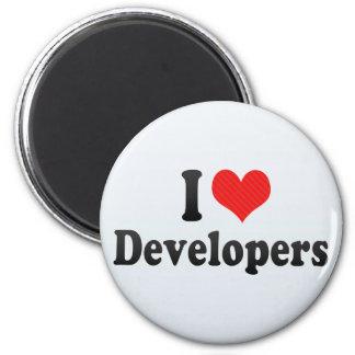 I Love Developers Fridge Magnet