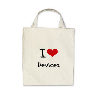 I Love Devices Canvas Bag