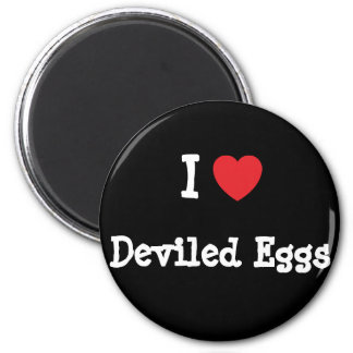 I love Deviled Eggs heart T-Shirt 2 Inch Round Magnet