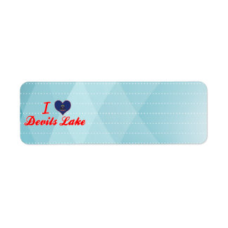 I Love Devils Lake, North Dakota Return Address Labels