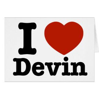 I love Devin Card