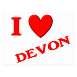 I Love Devon Postcards