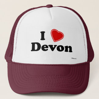 I Love Devon Trucker Hat