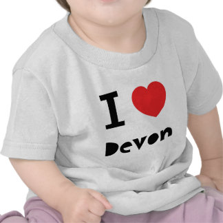 I love Devon Tee Shirts