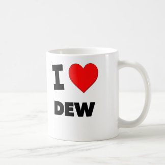 I Love Dew Coffee Mugs
