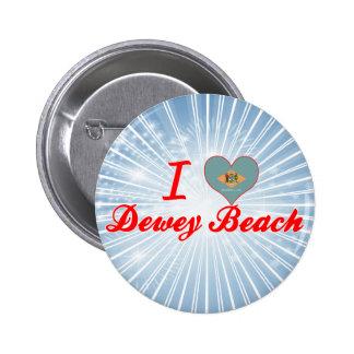 I Love Dewey Beach Delaware Pins