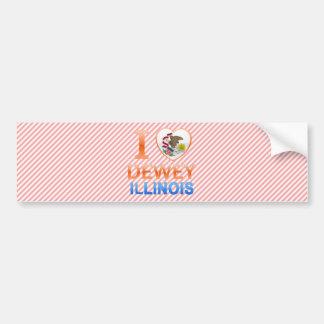 I Love Dewey, IL Car Bumper Sticker