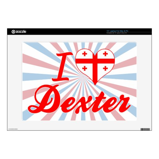 I Love Dexter, Georgia Decal For Laptop