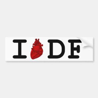 I Love DF Bumper Sticker