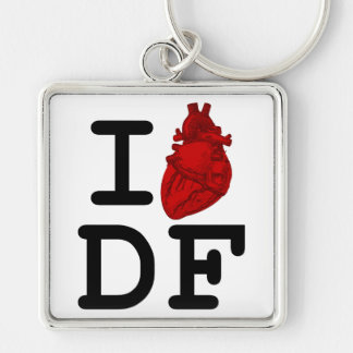 I Love DF Keychain
