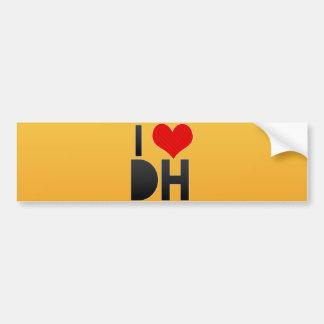 I Love DH Bumper Stickers