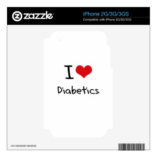 I Love Diabetics Decal For The iPhone 3GS