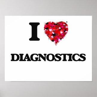 I love Diagnostics Poster
