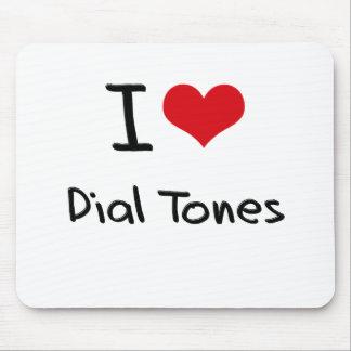 I Love Dial Tones Mousepads