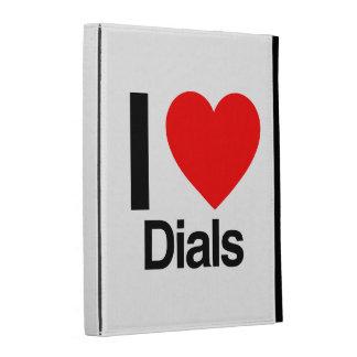 i love dials iPad folio cover