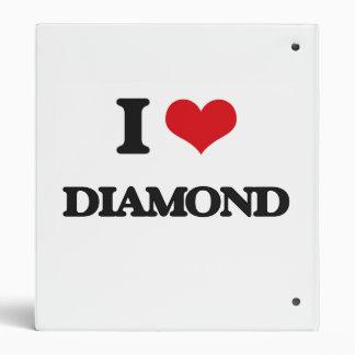 I Love Diamond Vinyl Binders